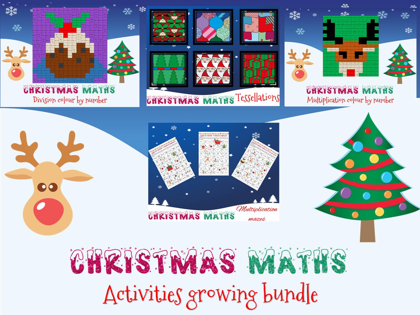 Christmas Maths: Activities Growing Bundle