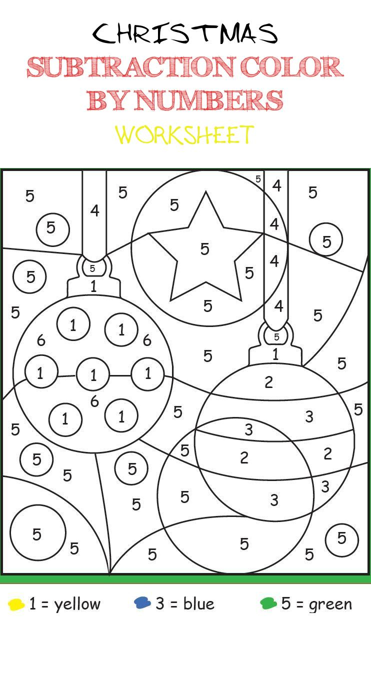 Christmas Maths Colournumbers – Doctorbedancing