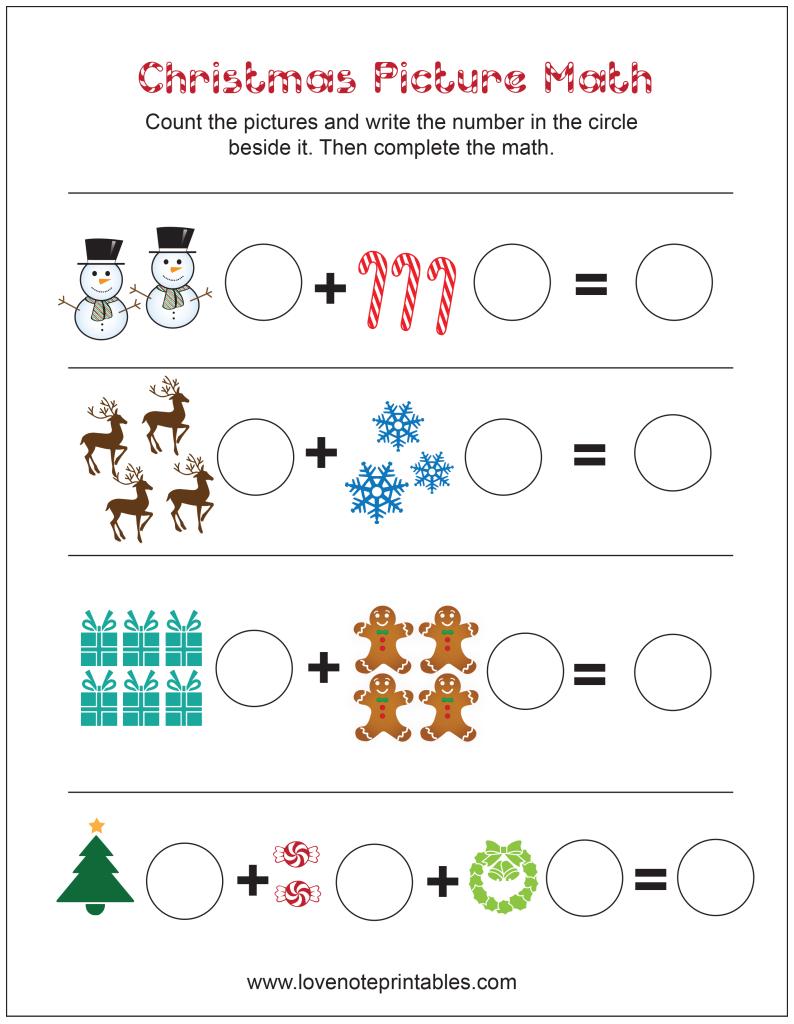 Christmas Maths Free Printable Worksheets Activity Sheets