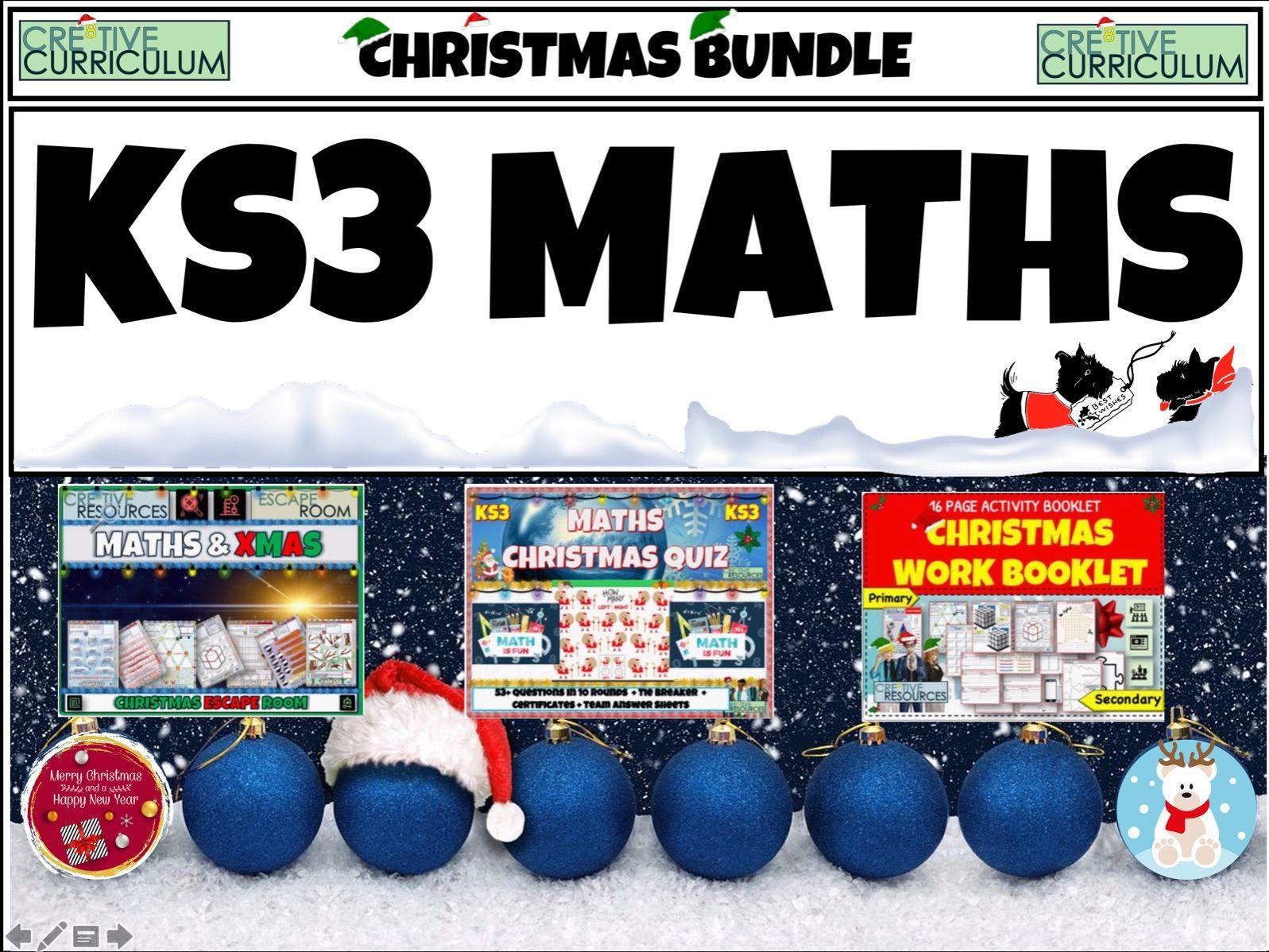 Christmas Maths Ks3 Bundle