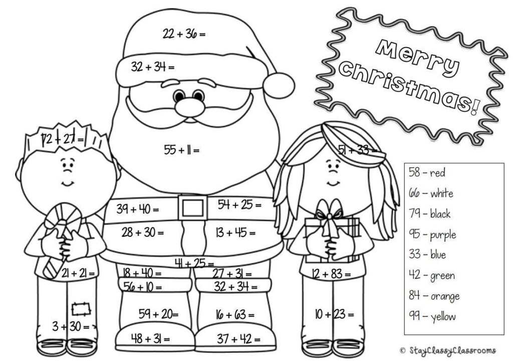 Christmas Maths Pack Year 1 & 2   Differentiated & No Prep
