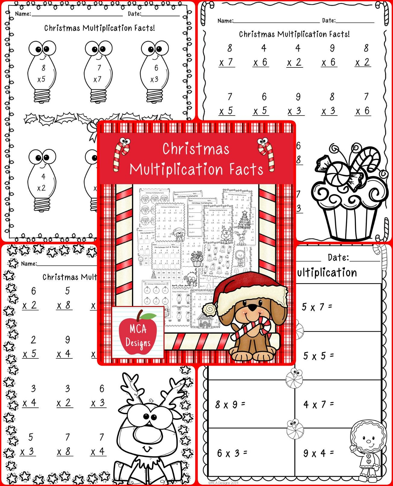 Christmas Multiplication Facts | Multiplication Facts