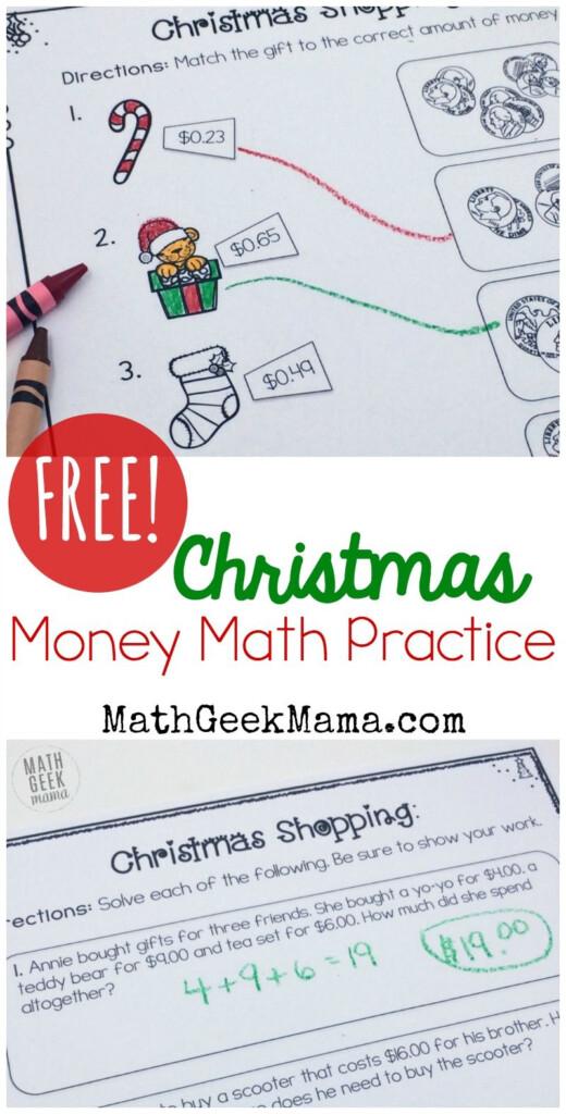 Christmas Shopping: Money Math Worksheets {Free}   Money