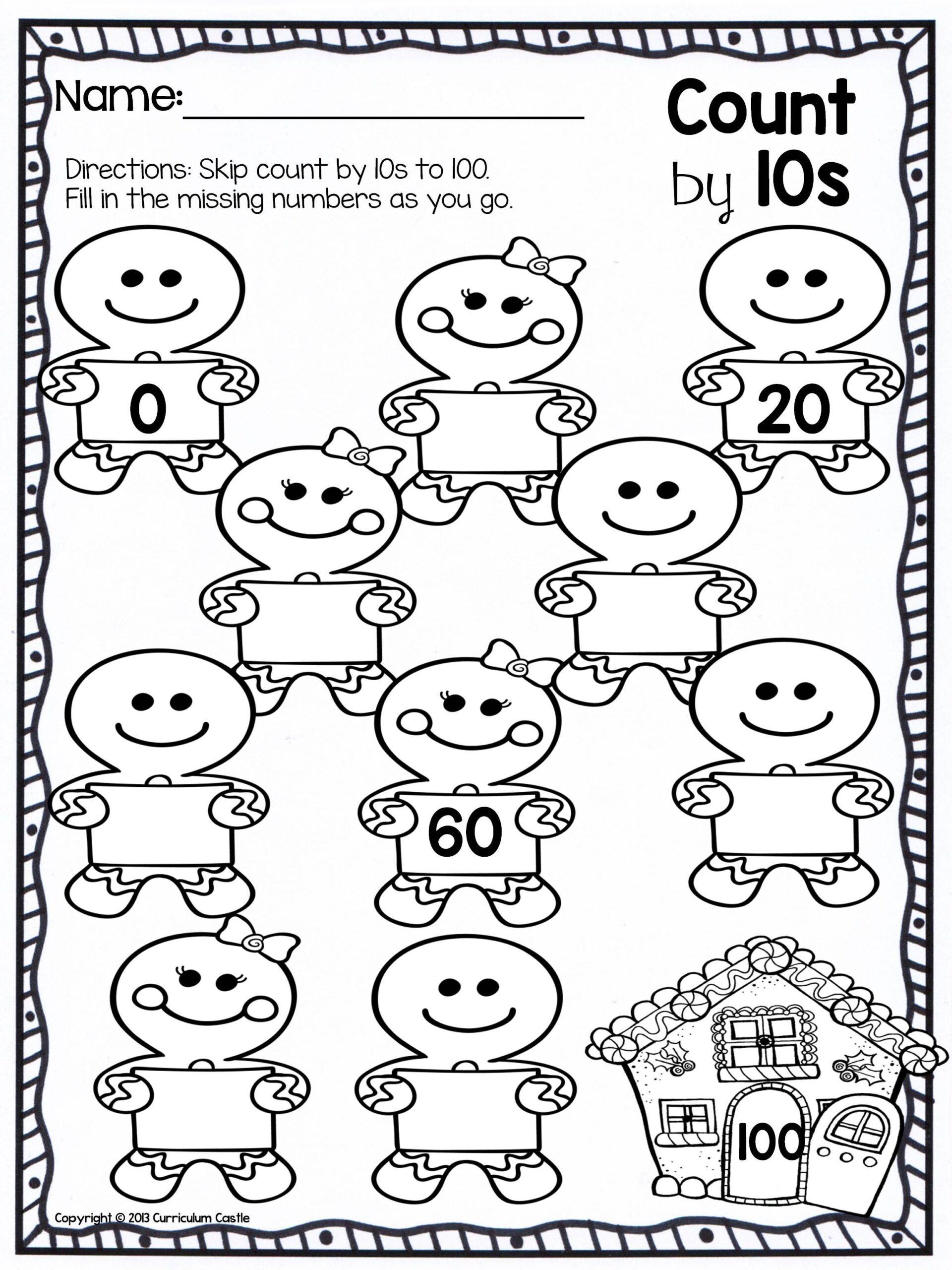Christmas Skip Counting Freebie Kindergarten Math Warm Ups