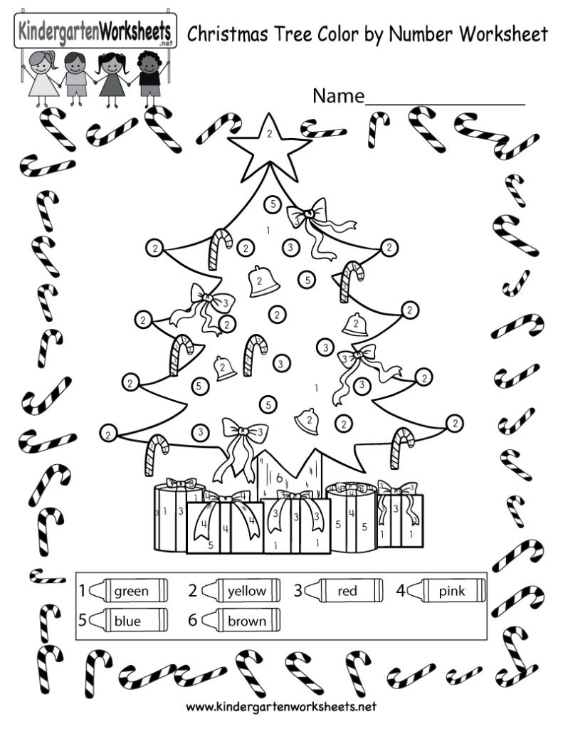 Christmas Tree Coloring Worksheet   Free Colornumber