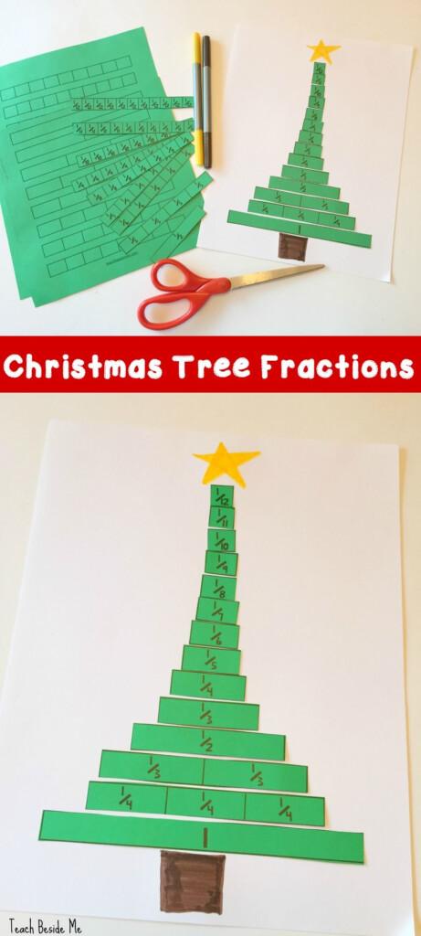Christmas Tree Fractions Printable Activity | Christmas Math