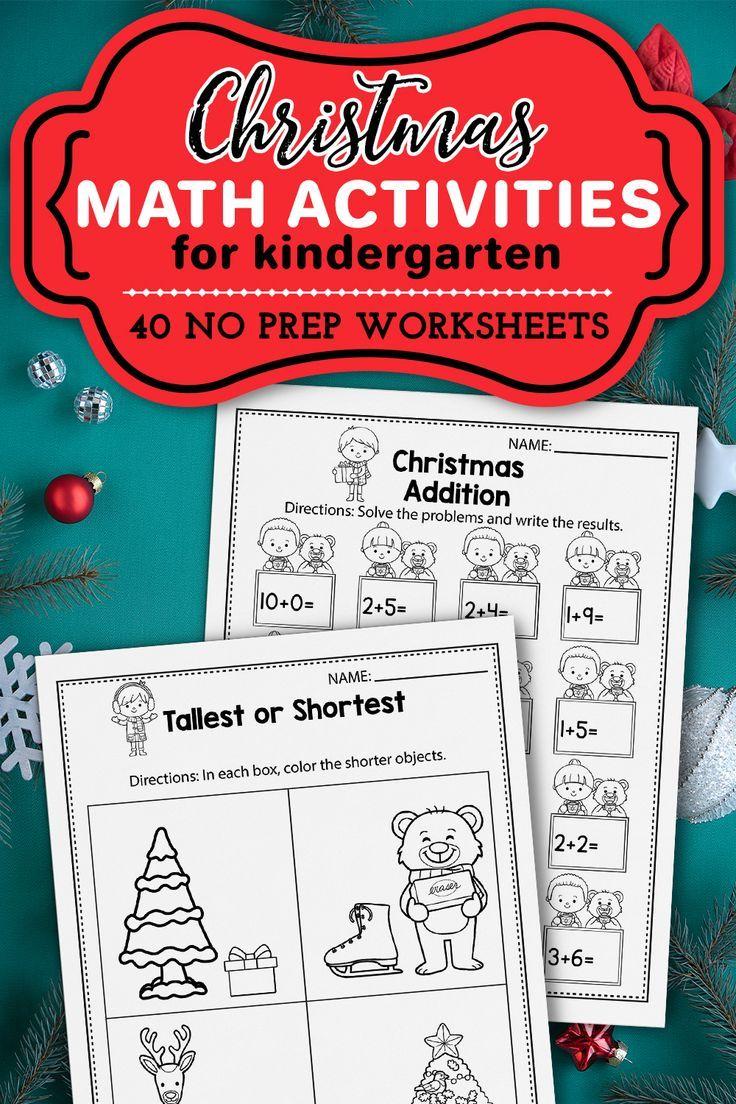 Christmas Worksheets For Kindergarten - Winter Printables