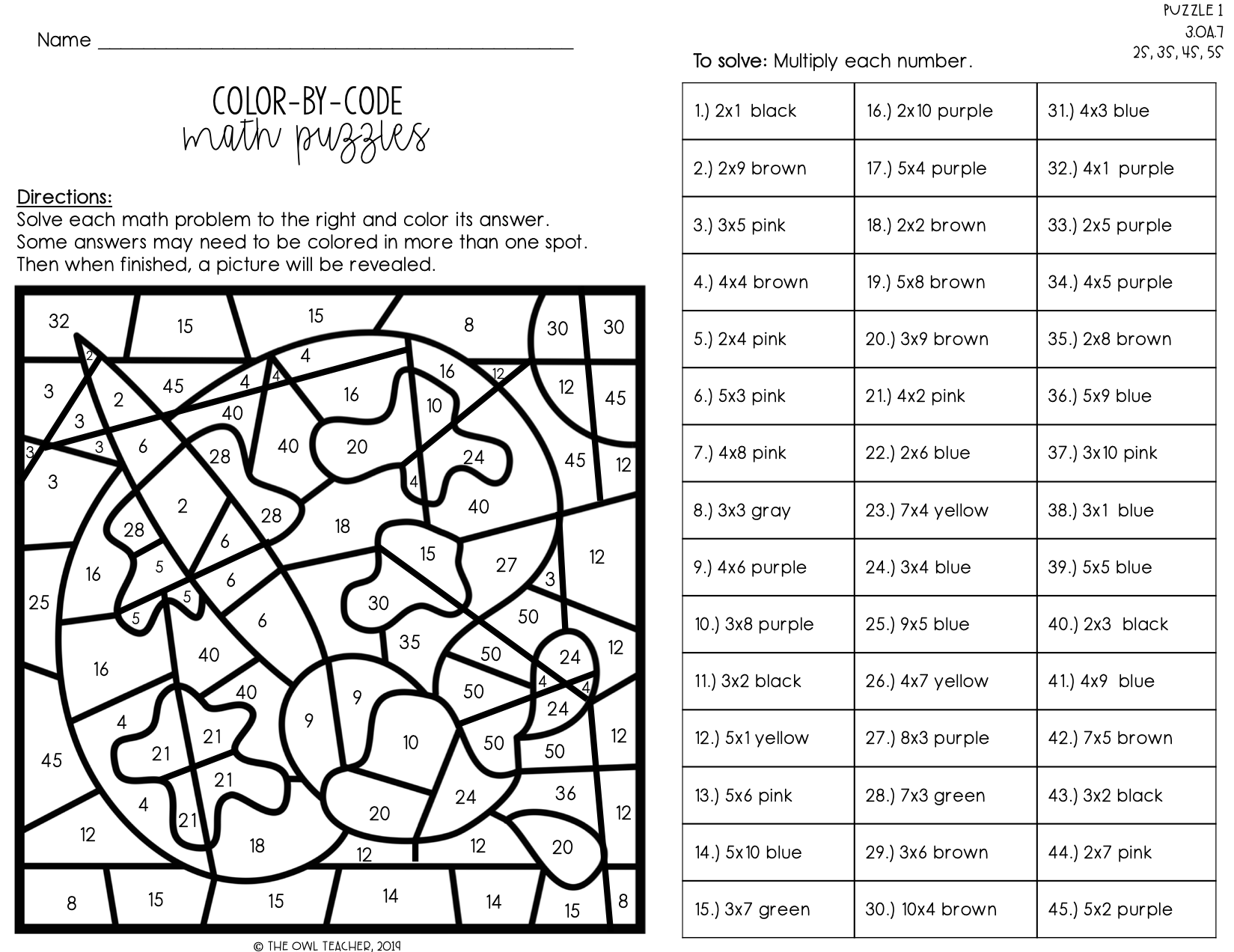 Color Byication Worksheets Free Printables Christmas