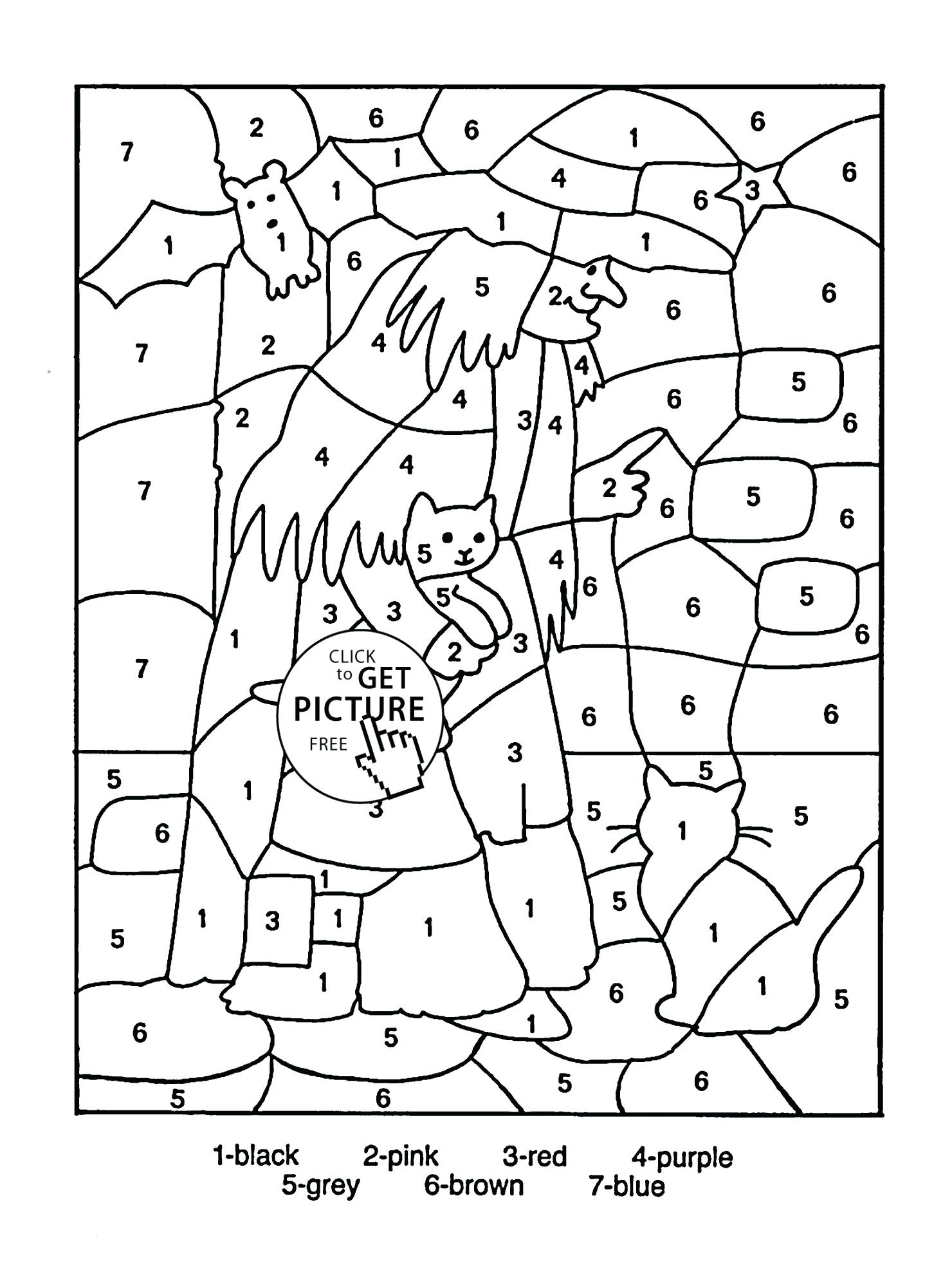 Coloring Pages Free Worksheets Grade Christmas Maths Puzzles
