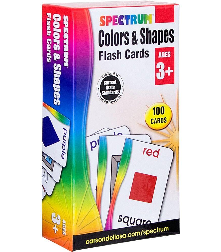 Colors & Shapes Flash Cards Grade Preschool-K In 2020
