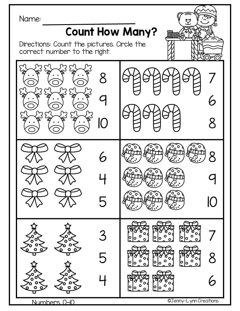 December Pre-K Math & Literacy   Preschool Christmas