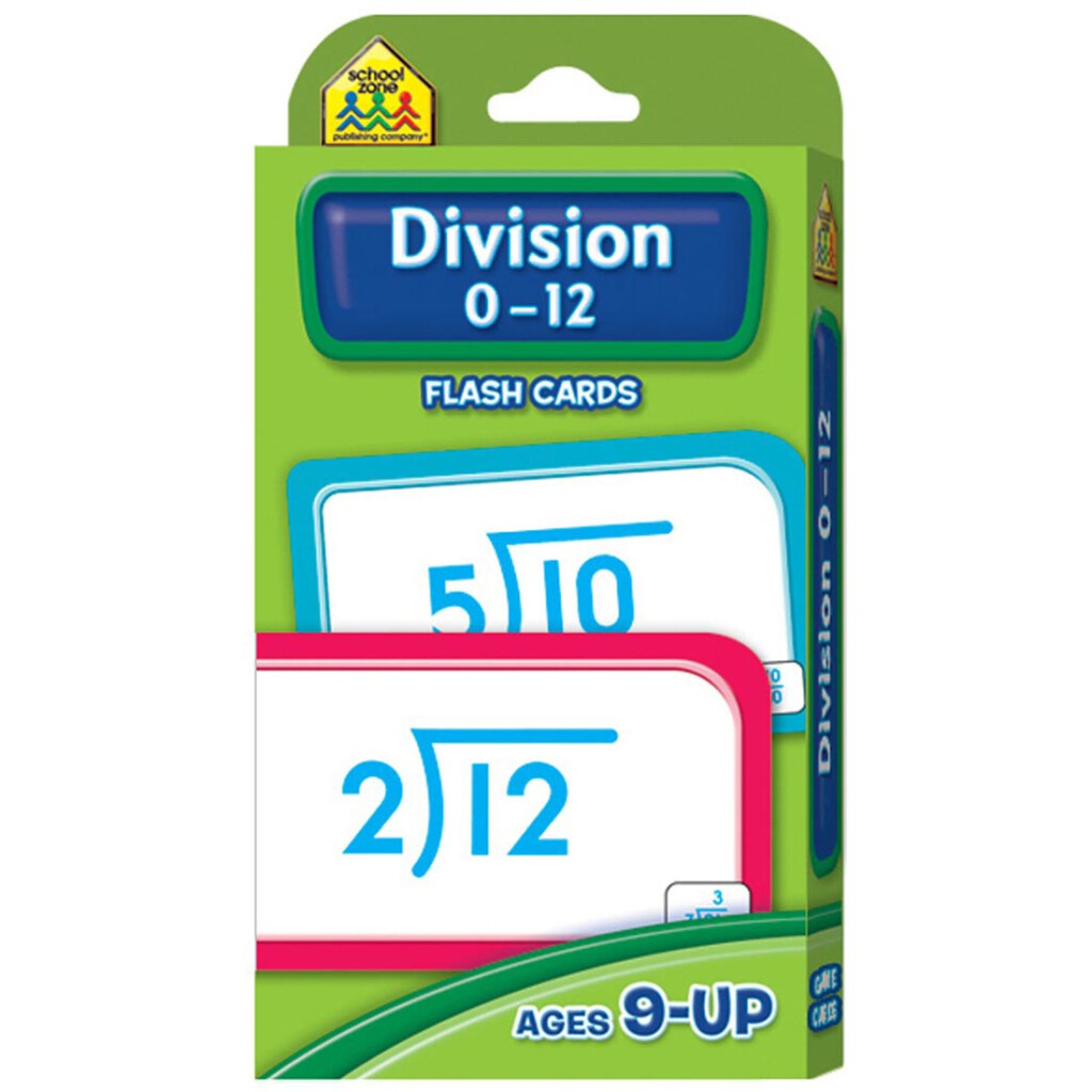 Details About School Zone Division 0 12 Flash Cards   Division 0 12 Flash  Cards