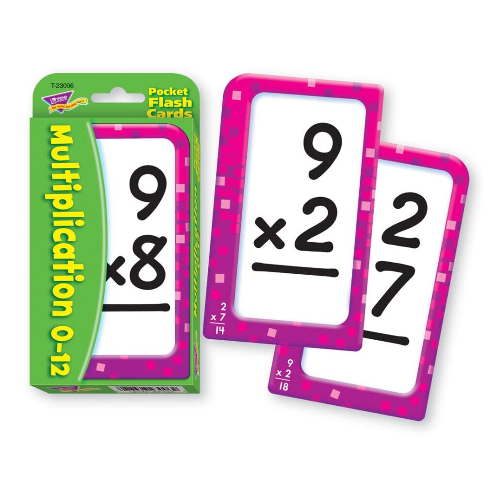 Details About Trend Multiplication 0 12 Pocket Flash Cards   Multiplication  0 12 Pocket Flash