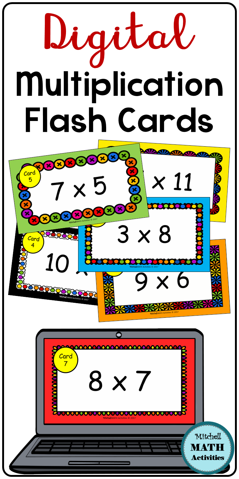 Digital Multiplication Flash Cards Bundle   Distance
