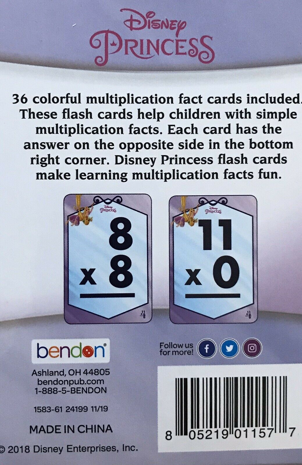 Disney Multiplication & Addition Flash Cards (72 Cards Total)