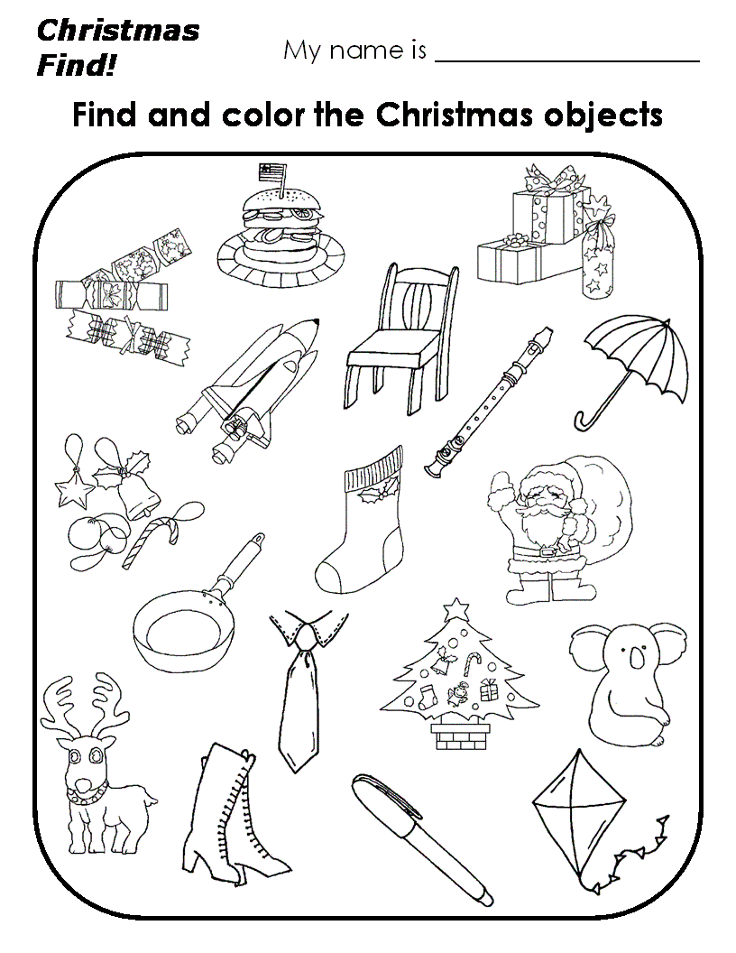 Educational Christmas Printables   Kids Activities