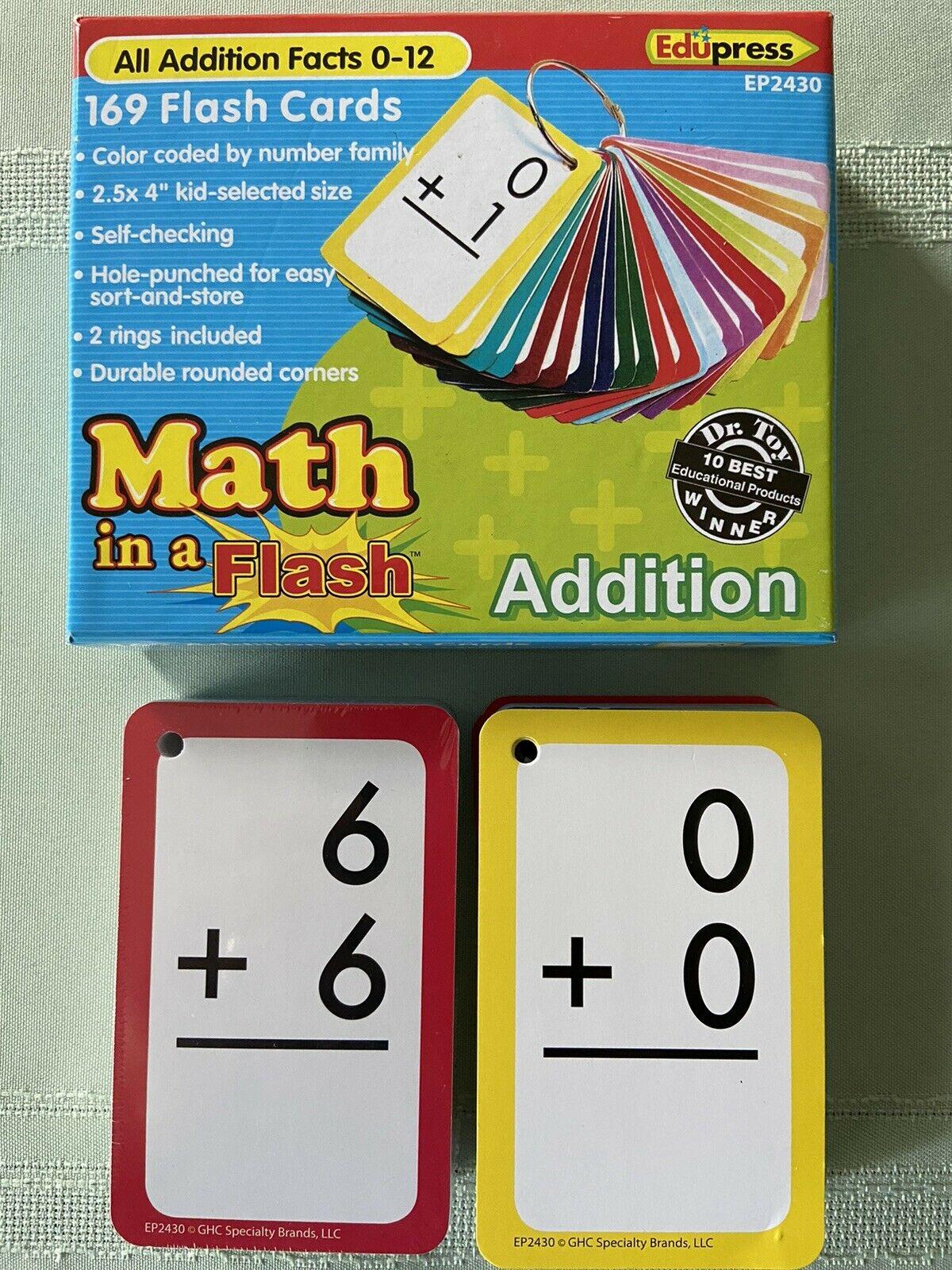 Edupress Math In A Flash Cards Addition Ep62430