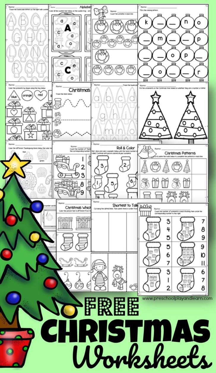 Math Worksheets Shaped Like A Christmas Tree