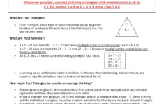 Facts Practice Using Multiplication/division Fact Triangles