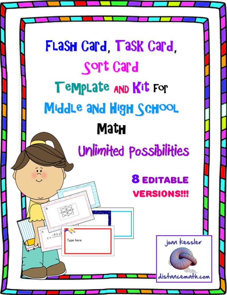 Flash Card, Task Card, Sort Card, Or Name Tag Template Kit