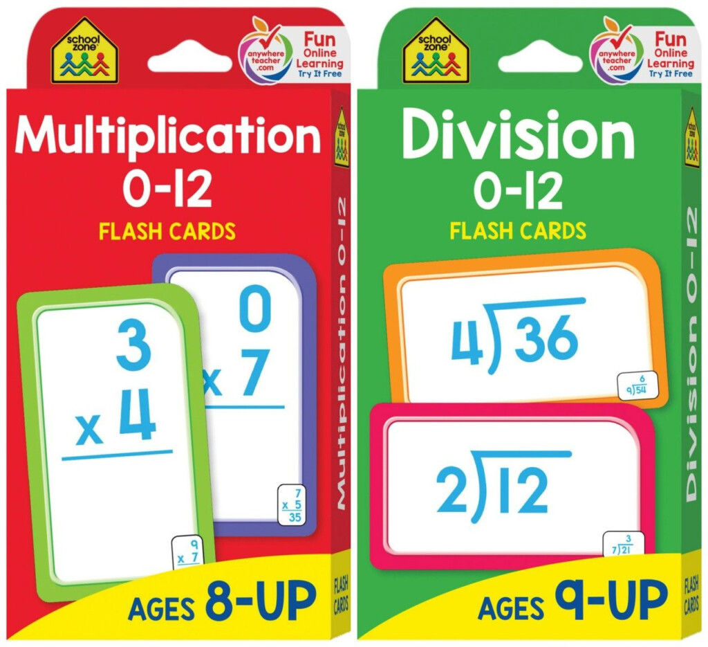 Flash Cards   Multiplication & Division   As Low As $1.43