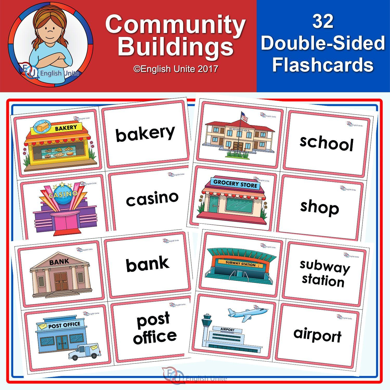 Flashcards - Community Buildings - English Unite