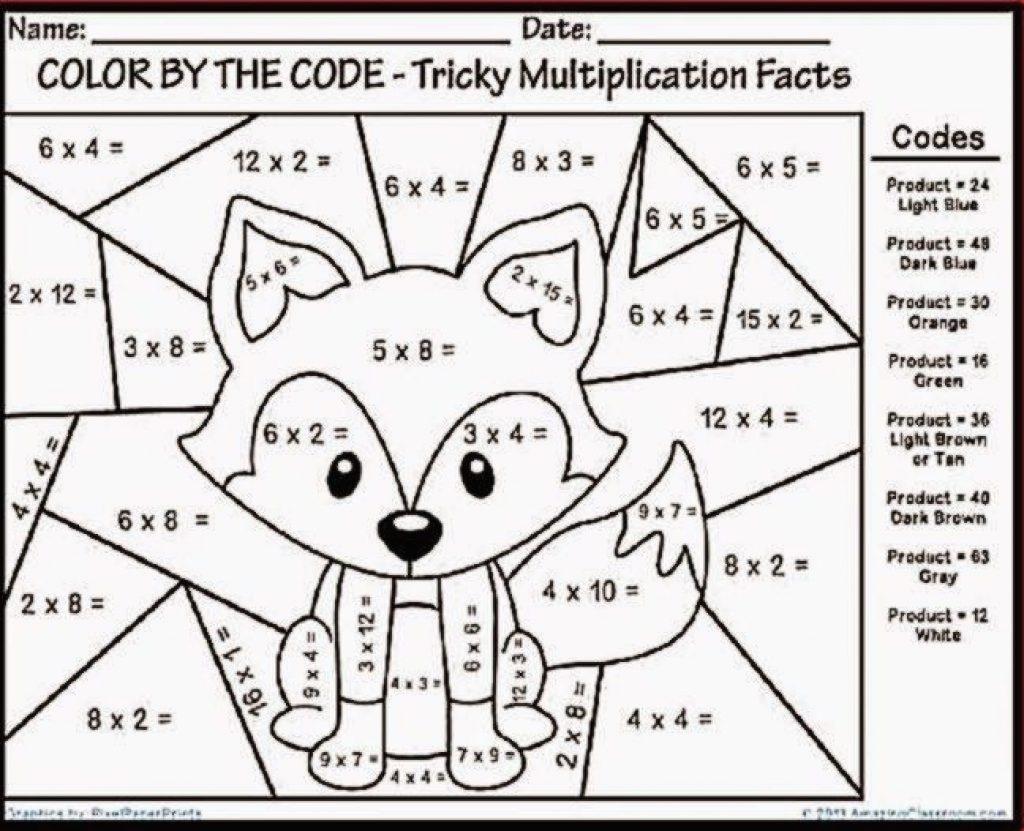 Free Mathloring Worksheets For Kids Christmas 3Rd Grade Pdf