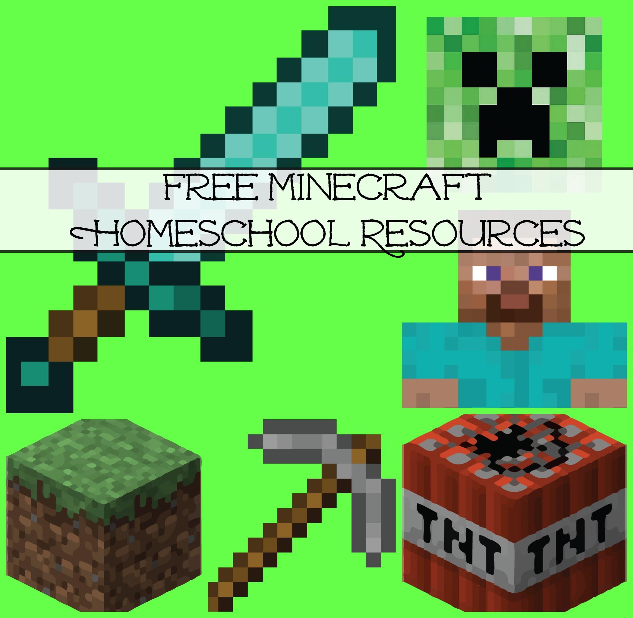 Free Minecraft Homeschool Resources: Printables, Crafts