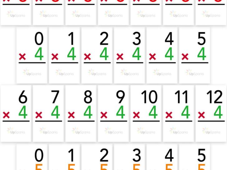 Multiplication Flash Cards Printable 0 10