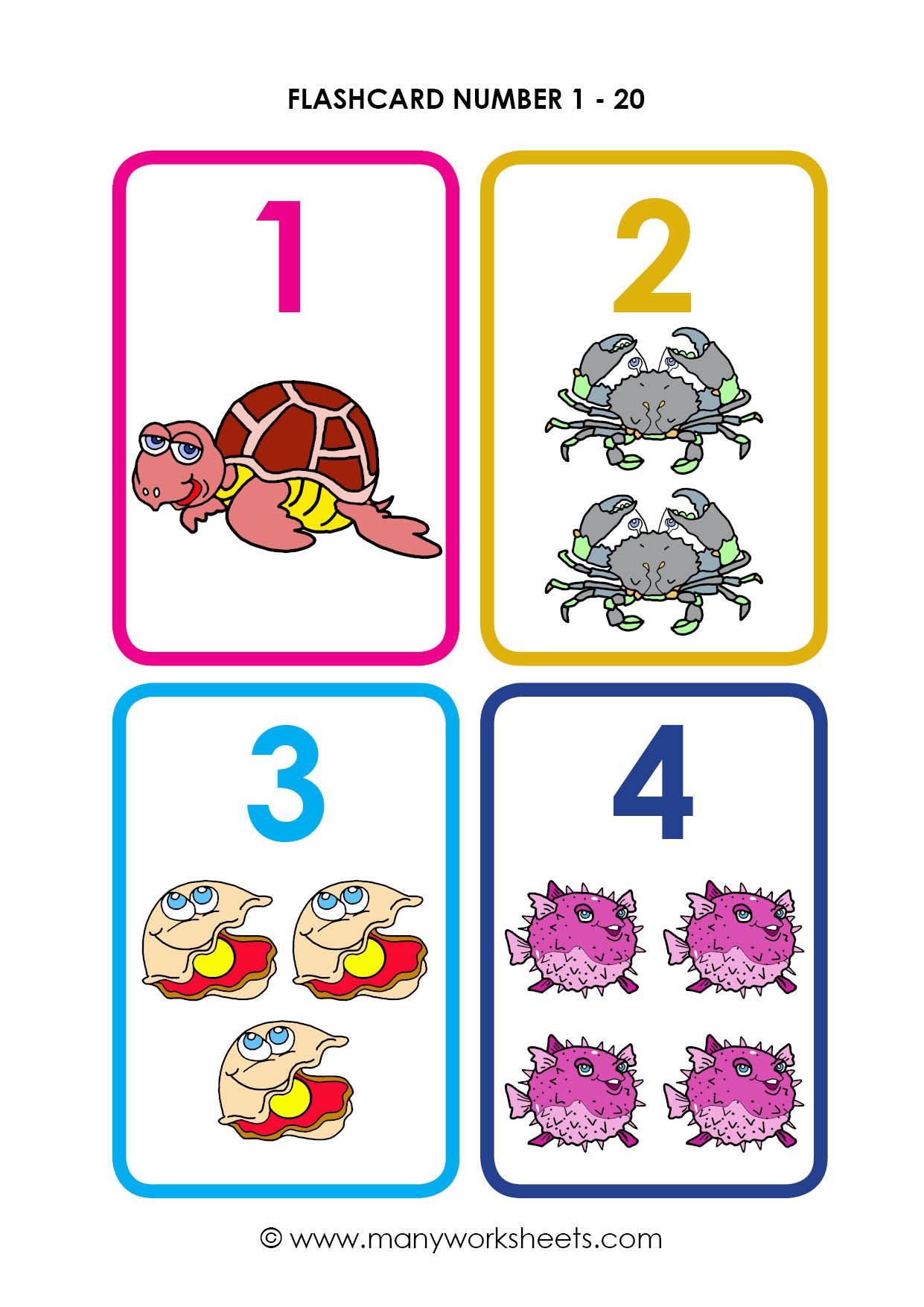 Gre Flashcards Printable Numbers 1-10 Flashcards Printable
