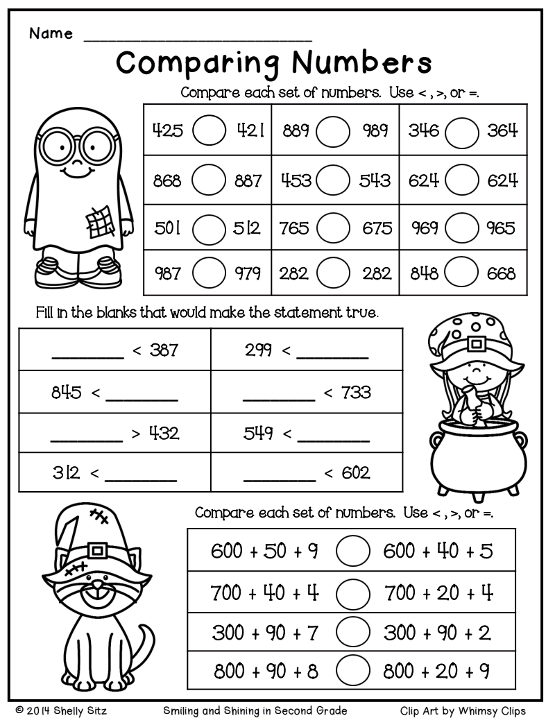 Halloween Math Freebie.pdf - Google Drive | 2Nd Grade Math