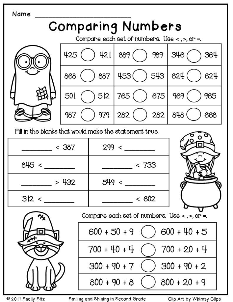 Halloween Math Freebie.pdf   Google Drive   2Nd Grade Math