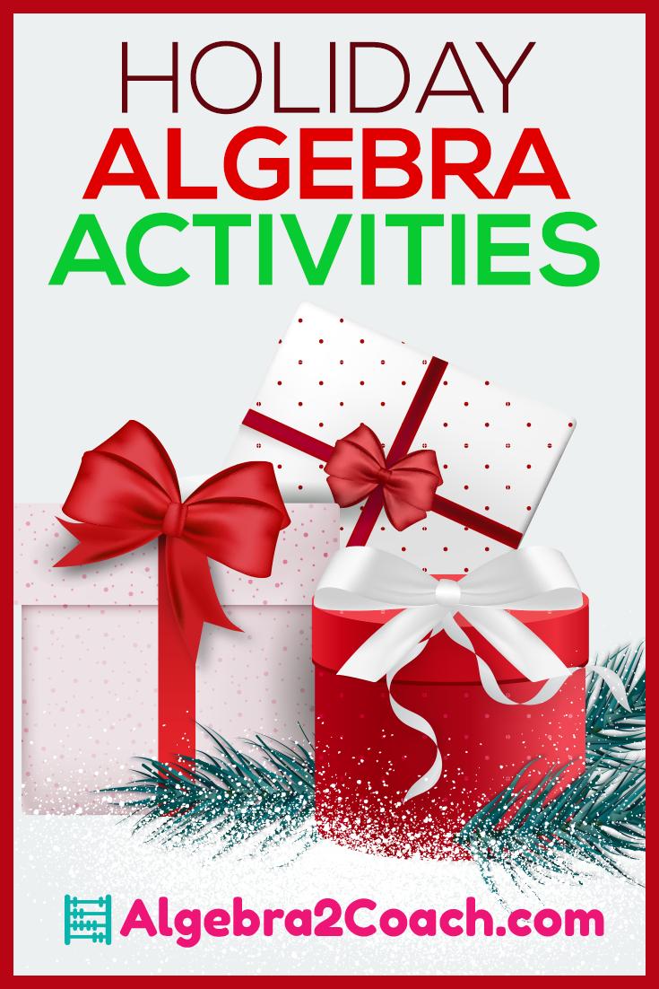 Holiday Algebra 2 Activities & Worksheets - Algebra2Coach