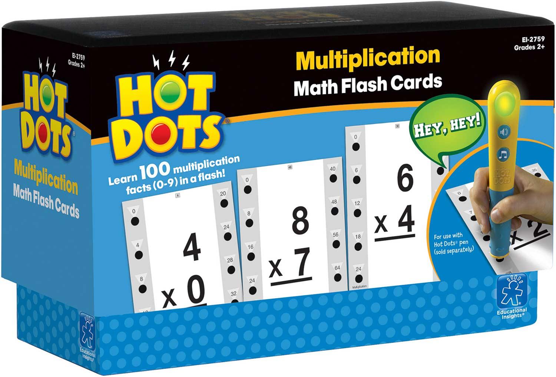 Hot Dots Math Flash Cards - Multiplication Interactive