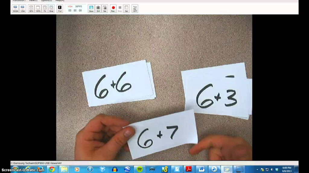 How To Learn Your Math Facts Using Flash Cards