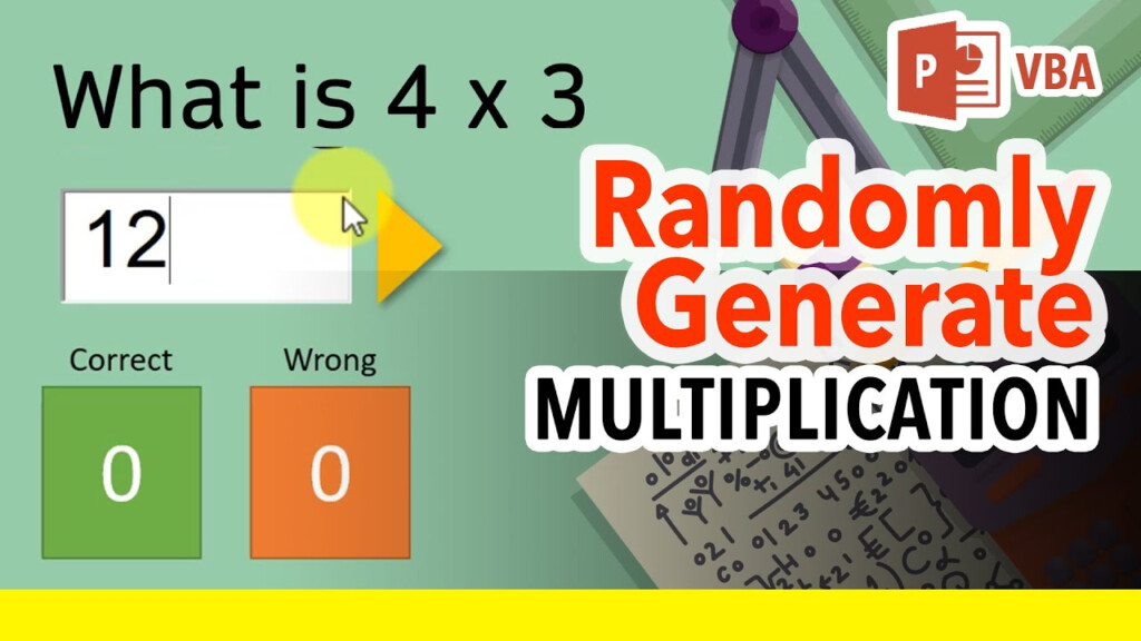How To Make Powerpoint Multiplication Flash Cards Quiz Generator /  Interactive Maths Game [Ppt Vba]
