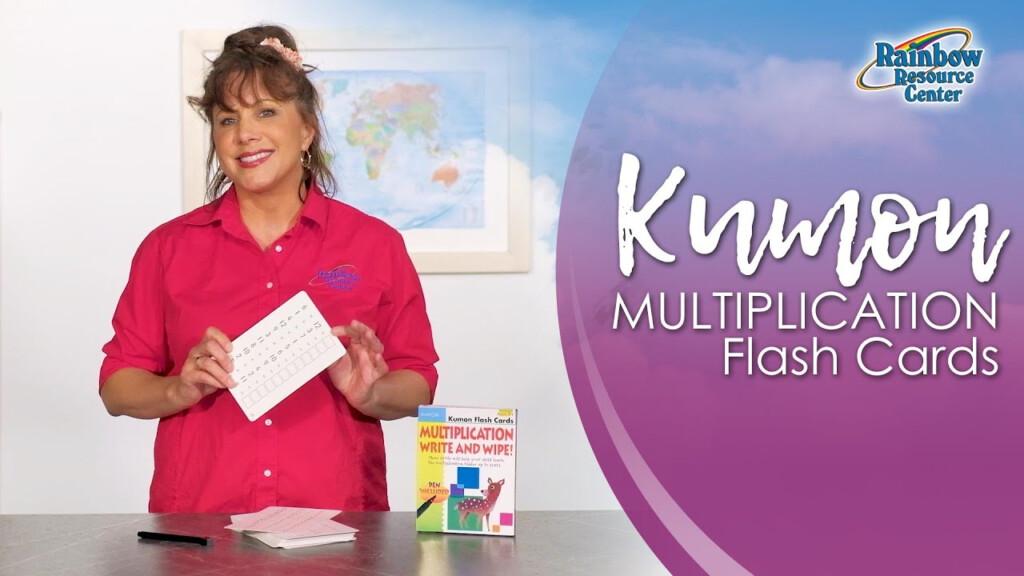 Kumon Multiplication Dry Erase Flash Cards