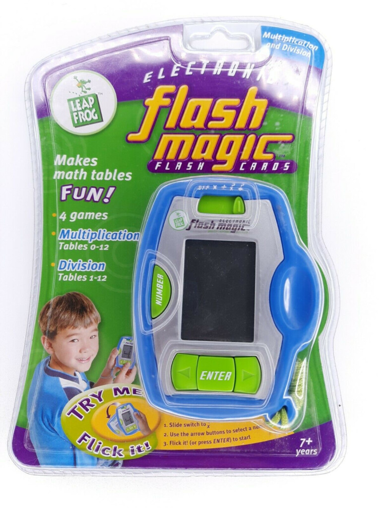 Leapfrog Flash Magic Electronic Portable Multiplication And Division Game