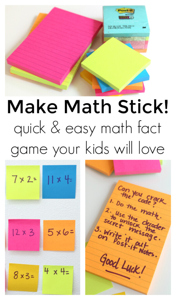 Make Math Stick   Math Game For Kids   No Time For Flash Cards