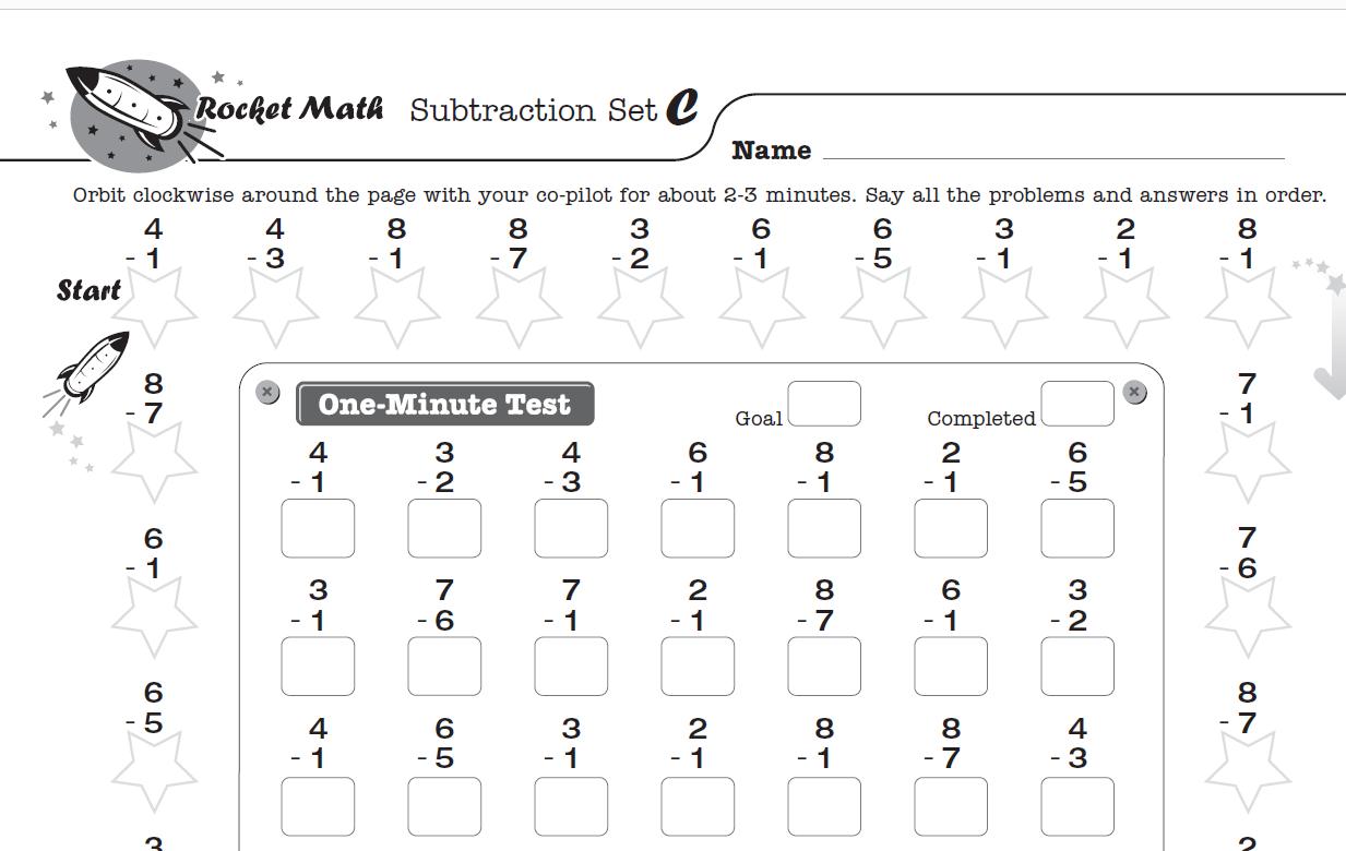 Math Fact Fluency Tools - Rocket Math