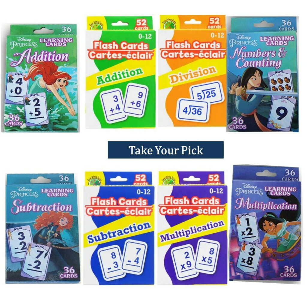 Math Flash Cards For Kids Disney Addition Subtraction
