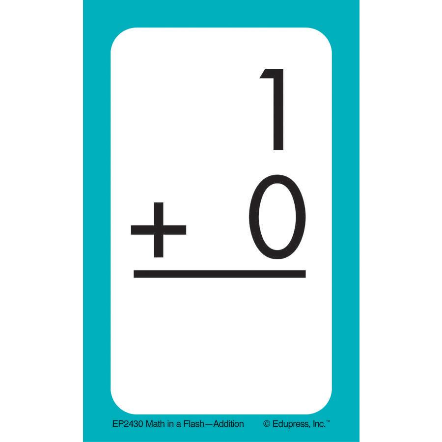 Math In A Flash Flashcards: Addition