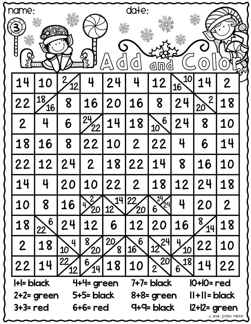 Math Worksheet : Math Worksheet Christmas Coloring Pages
