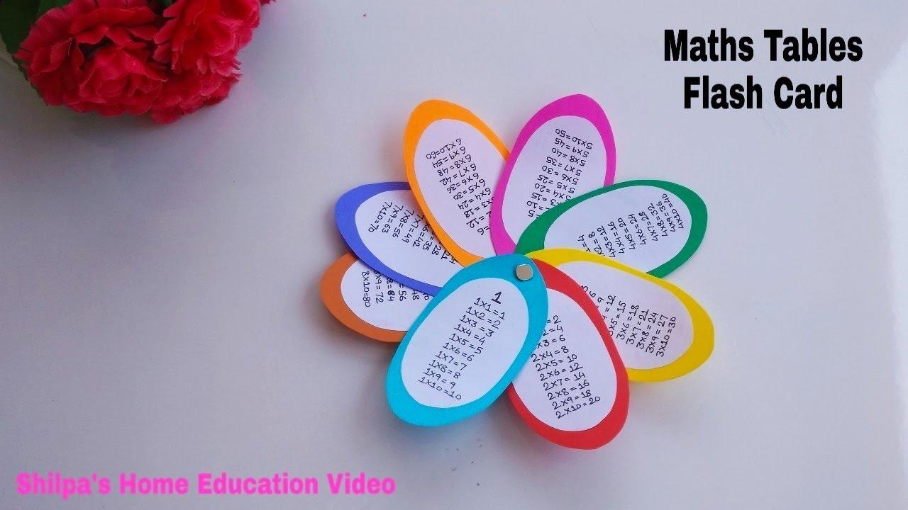 Maths Tables L Basic Math L Diy/flash - Cards L How To L Maths Tlm | Maths  Working Model