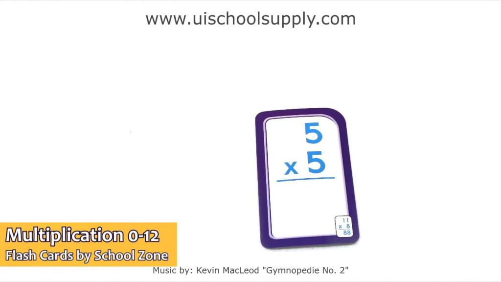 Multiplication 0 12 Flash Cardsschool Zone Szp04008
