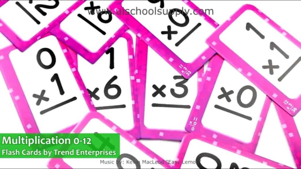Multiplication 0 12 Flash Cardstrend Enterprises T23006