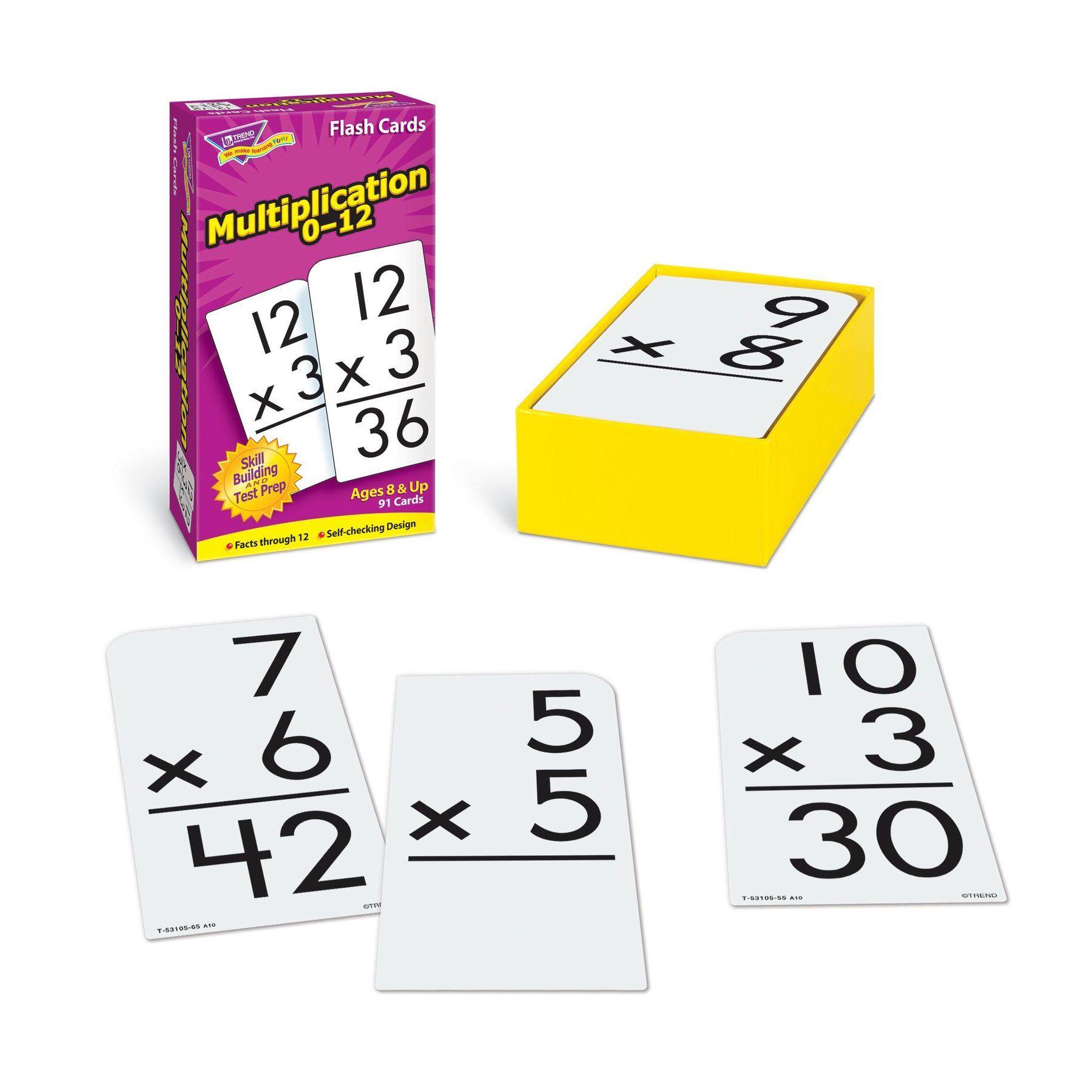 Multiplication 0-12 Skill Drill Flash Cards In 2020