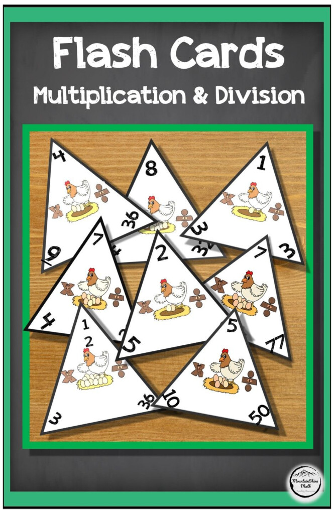 Multiplication And Division Triangle Flashcards 1 12