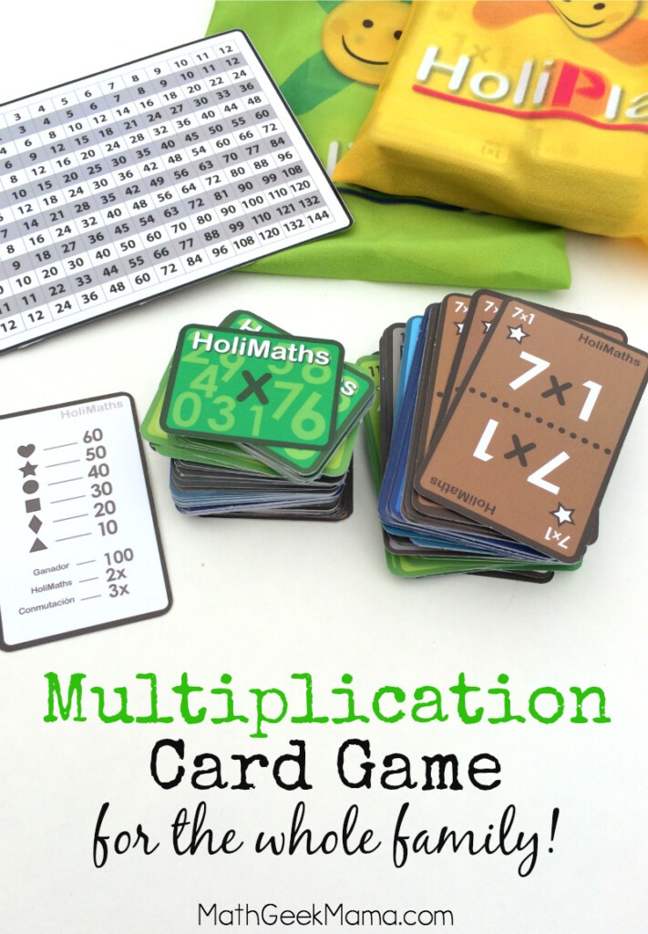 Multiplication Card Game The Whole Family Will Love