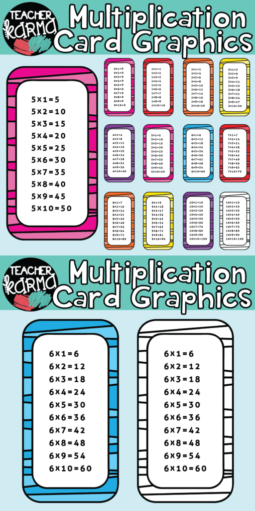 Multiplication Cards Math Clipart Is Perfect For Classroom